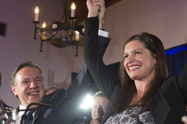La candidate de la Coalition avenir Québec Geneviève... (PHOTO PC)