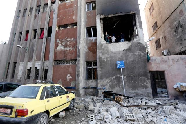 Le double attentat suicide de lundi intervient au... (AFP)