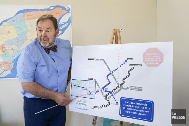 Jean Fortier propose une ligne bleue améliorée pour... (Photo Robert Skinner, La Presse)