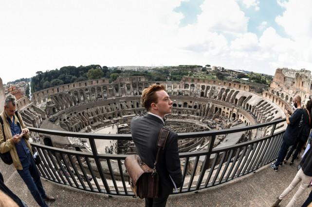 Les étages supérieurs du Colisée de Rome seront... (PHOTO AFP)