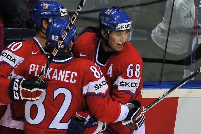 Tomas Plekanec (82) a maintes fois fait équipe... (Photo Joe Klamar, archives AFP)