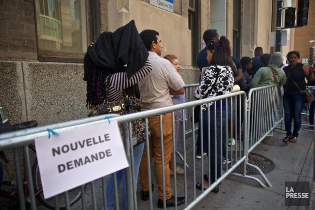 Plus de 8000 demandes d'asile ont été déposées... (Photo André Pichette, La Presse)