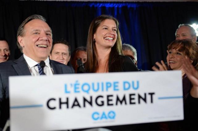 La caquisteGeneviève Guilbault a remporté l'élection partielle dans... (PHOTOERICK LABBÉ, LE SOLEIL)