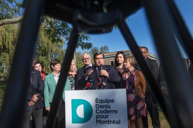 Le maire sortant de Montréal, Denis Coderre, a... (Photo Ivanoh Demers, La Presse)