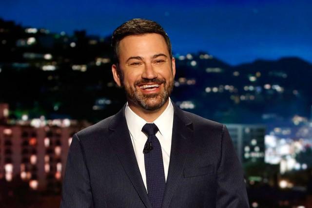 L'animateur Jimmy Kimmel... (Photo Randy Holmes, fournie par ABC)