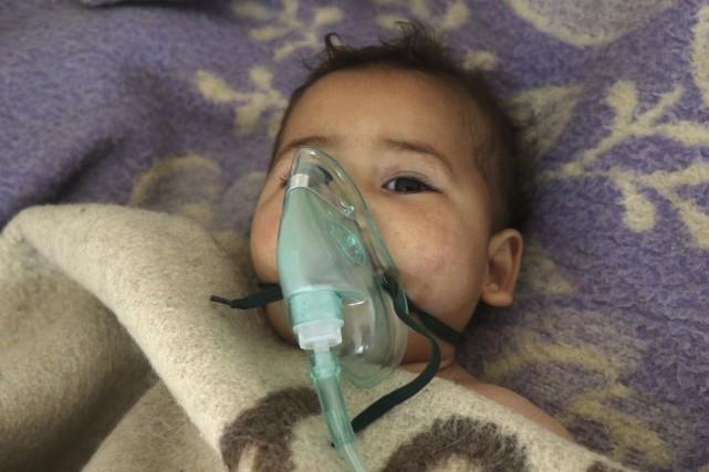 Le 4 avril, un raid aérien avait frappé... (AFP, Mohamed al-Bakour)
