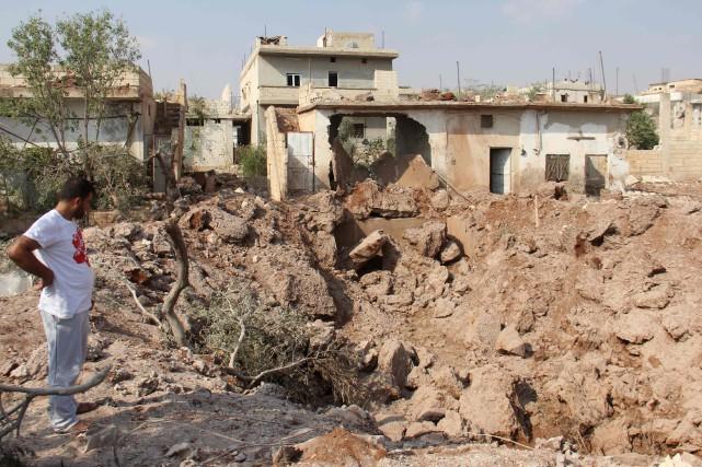 Le régime de Bachar al-Assad contrôle la majorité... (AFP)