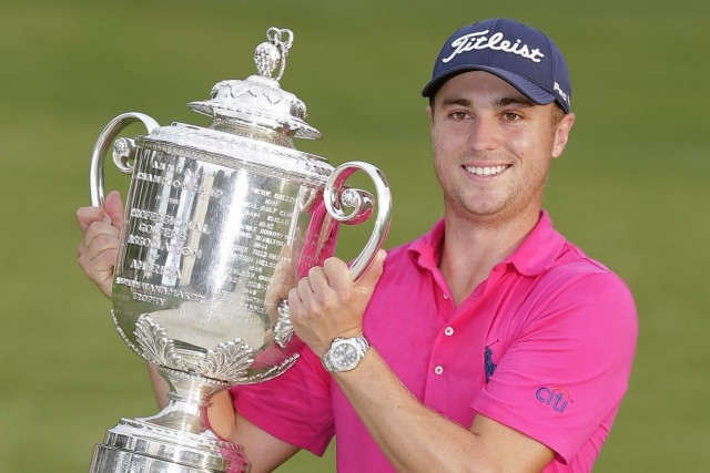Justin Thomas a remporté le Championnat de la PGA... (PHOTO AP)