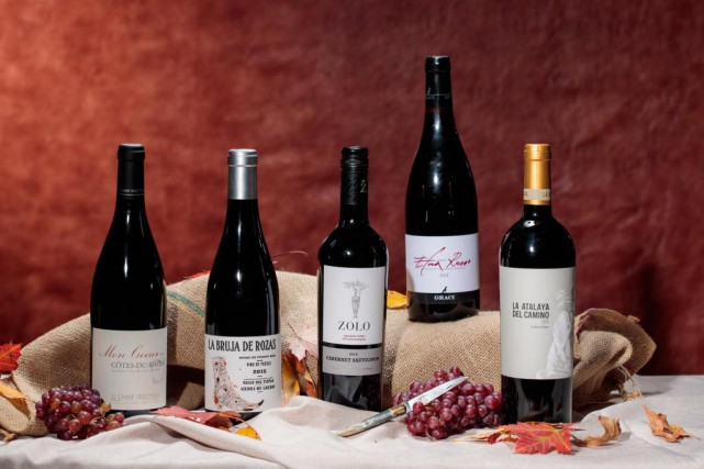 Notre sélection de cinq bouteilles de vin qui... (Photo Hugo-Sébastien Aubert, La Presse)
