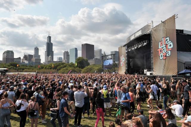 Spectacle de musique pendant le festival Lollapalooza dans... (ARCHIVES AP)