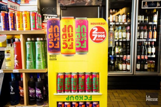 La boisson sucrée FCKD UP a une teneur... (Photo OlivierPontBriand, La Presse)