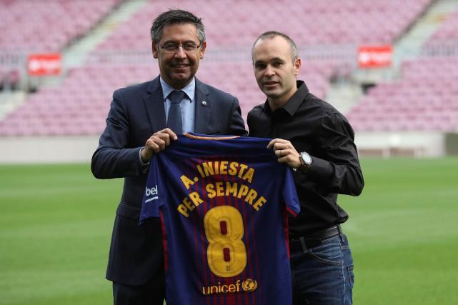 Le président du FC Barcelone, Josep Maria Bartomeu,... (Photo Albert Gea, Reuters)