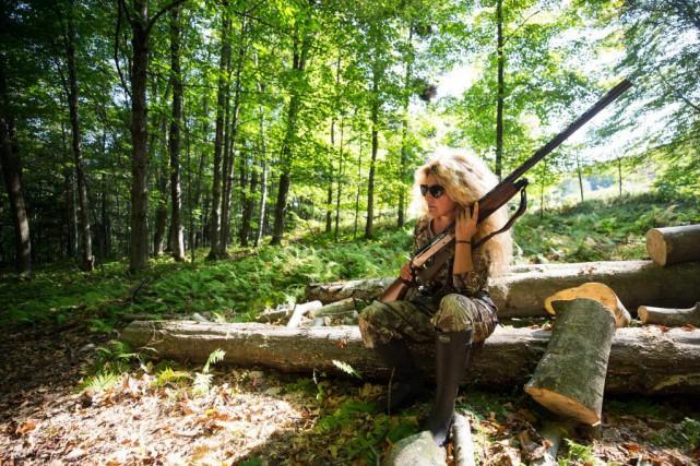 Annie-Paule Cron est passionnée par la chasse. Tombée... (Photo Hugo-Sébastien Aubert, La Presse)