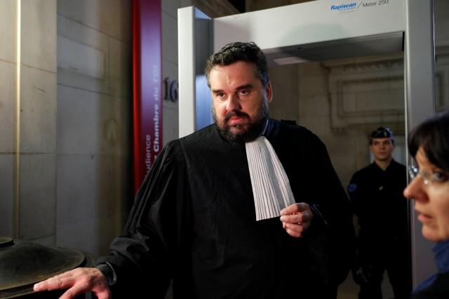 Thomas Klotz, l'avocat de Christine Rivière, en cour... (Photo Philippe Wojazer, REUTERS)