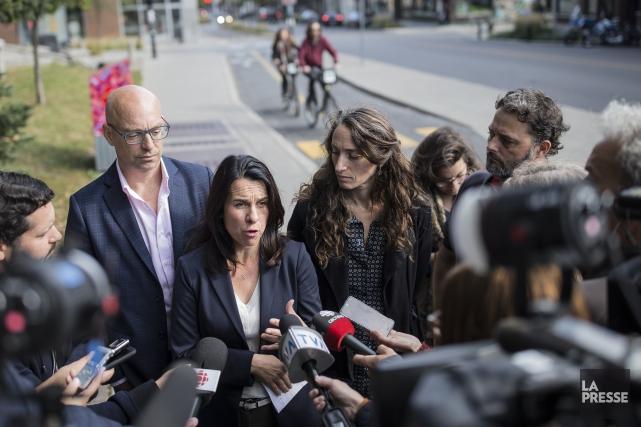 La chef de Projet Montréal, Valérie Plante, a... (Photo Edouard Plante-Fréchette, La Presse)