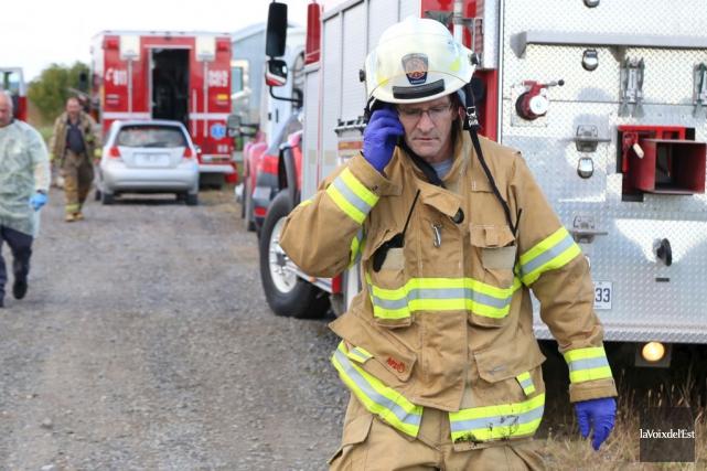 Sylvain Laplante, directeur du Service des incendies de... (Photo archives La Voix de l'Est)