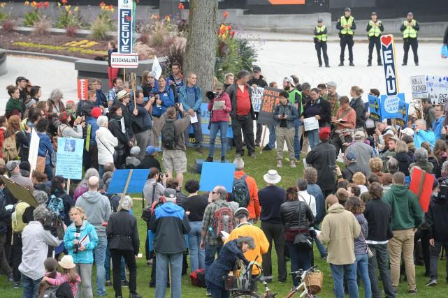 Les manifestants ont reproché au gouvernement de vouloir... (Photo Jean-Marie Villeneuve, Le Soleil)