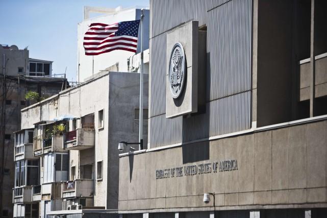 L'ambassade des États-Unis à Tel-Aviv.... (PHOTO Nir Elias, ARCHIVES REUTERS)