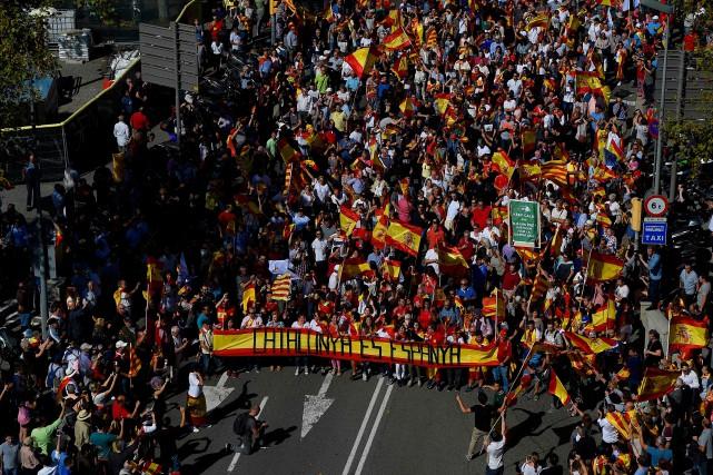 Le rassemblement de Barcelone est soutenu par le... (Photo Lluis Gene, Agence France-Presse)