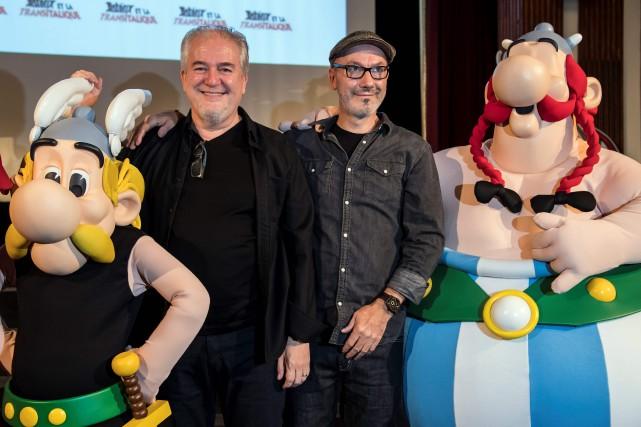 Didier Conrad et Jean-Yves Ferri... (Photo Bertrand Guay, Agence France-Presse)