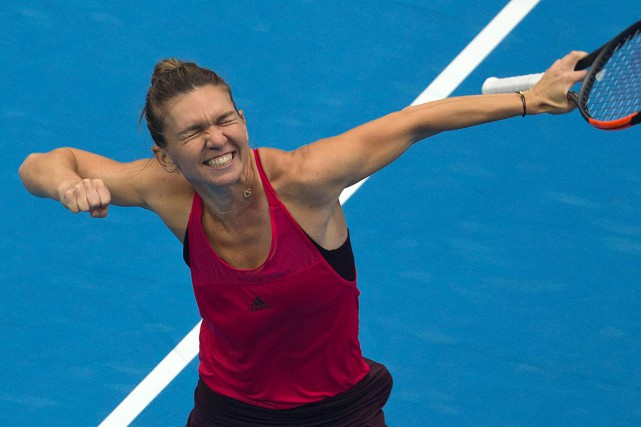 Simona Halep devient la première Roumaine à se hisser... (PHOTO NG HAN GUAN, ASSOCIATED PRESS)