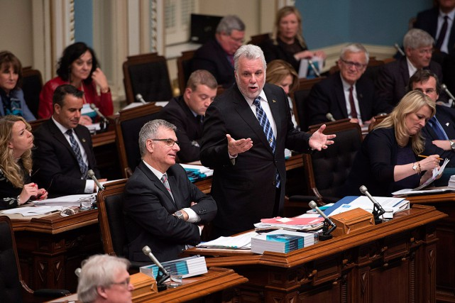 Le premier ministre Philippe Couillard ne cache pas son... (PHOTO JACQUES BOISSINOT, ARCHIVES LA PRESSE CANADIENNE)