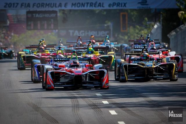 La première course montréalaise de voitures électriques a... (PHOTO OLIVIER JEAN, ARCHIVES LA PRESSE)