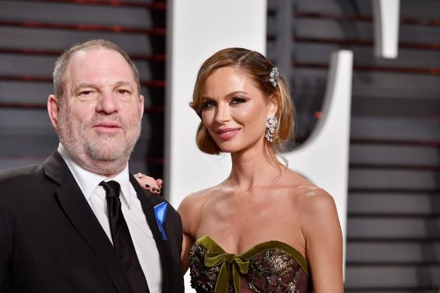 Harvey Weinstein et sa femme Georgina Chapman en... (PHOTO AFP)