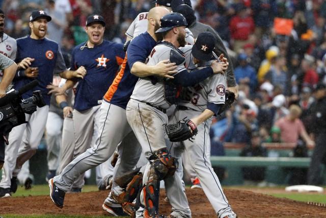 Les Astros sont de retour en série de championnat de ligue pour la première... (PHOTO AP)