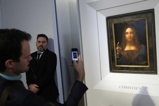 Salvator Mundi(sauveur du monde) du peintre italien Léonard... (PHOTO AP)