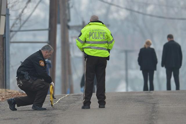 Plus de 1100 personnes ont été tuées par la police en 2015 aux États-Unis, mais... (ARCHIVES AFP)
