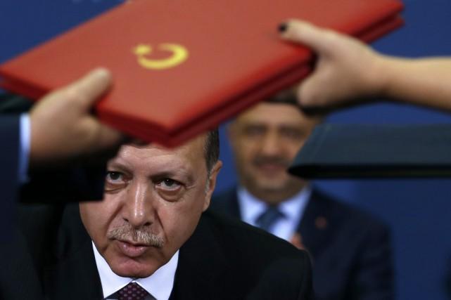Le président turc Recep Tayyip Erdogan était à... (PHOTO AP)