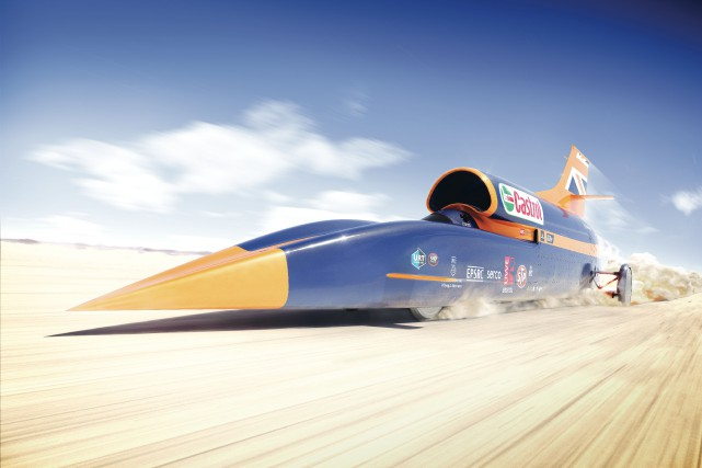 La Bloodhound SSC... (Image fournie par UK Science & Innovation Network)