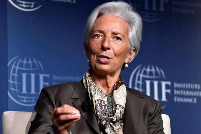 La directrice générale du FMIChristine Lagarde... (PHOTO Mike Theiler, REUTERS)