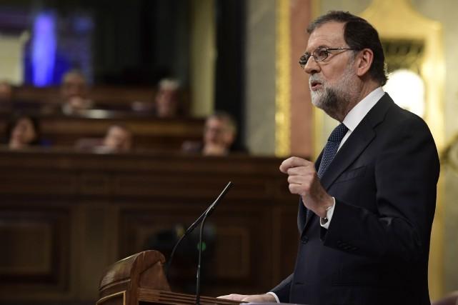 Le chef du gouvernement espagnol Mariano Rajoy (photo)... (PHOTO JAVIER SORIANO, AFP)