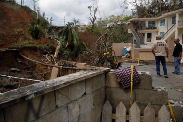 Trois semaines après le passage de l'ouraganMaria, qui... (PHOTO Shannon Stapleton, REUTERS)
