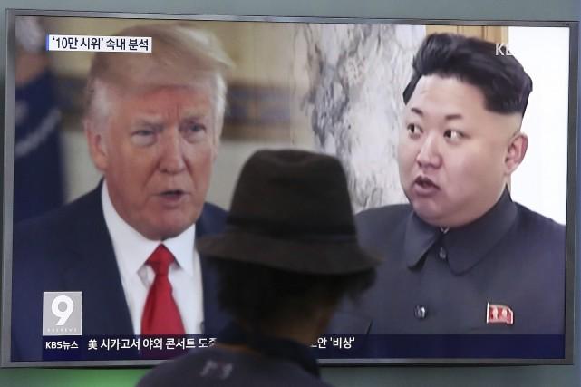 «Avec ses déclarations belliqueuses et insensées à l'ONU,... (AP)