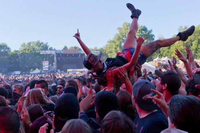 Scène au festival Heavy Montréal, en 2016... (PHOTO OLIVIER JEAN, archives LA PRESSE)