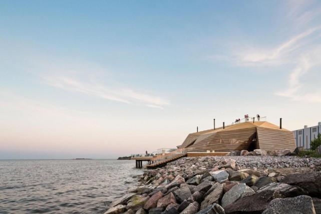 Le Löyly, d'Avanto Architects, est le poumon du... (Photo fournie par Kuvio)