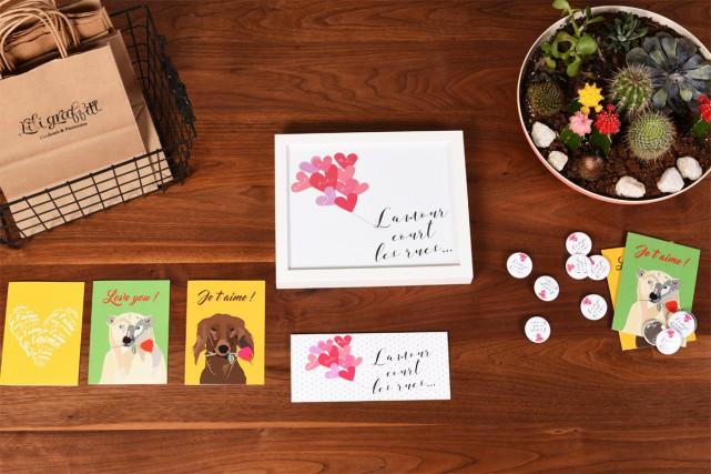 Colorée et décantée, la nouvelle collection de papeterie... (Photo fournie par Lili Graffiti)