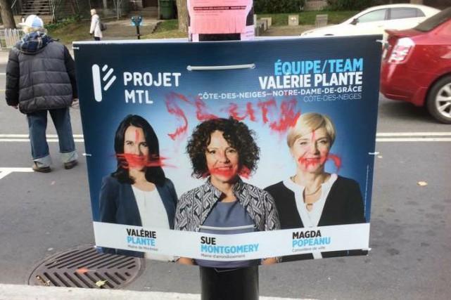 Valérie Plante déplore l'apparition de nombreux graffitis à...