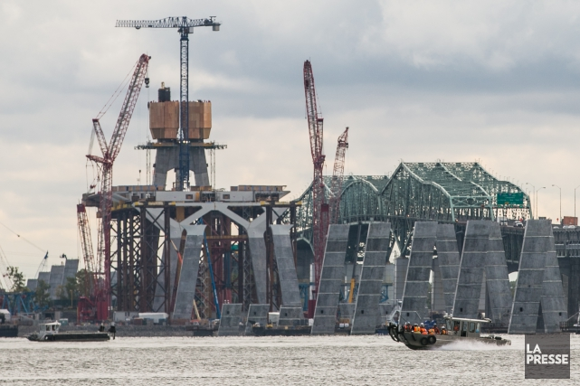 Le chantier de construction du nouveau pont Champlain... (Photo Martin Tremblay, La Presse)
