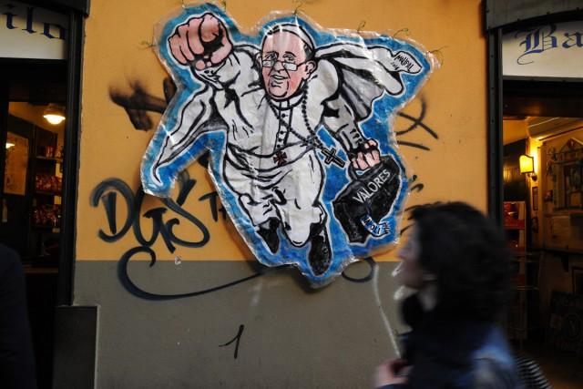 L'artiste de rue MauPal avait fait un «buzz»... (PHOTO ARCHIVES AFP)