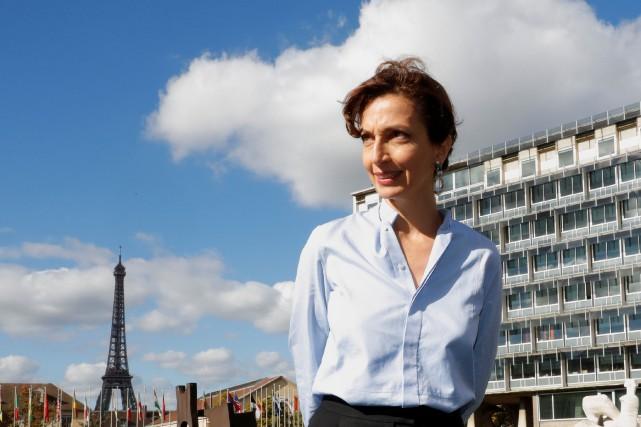 Audrey Azoulay, la nouvelle directrice générale de l'UNESCO.... (Photo Philippe Wojazer, REUTERS)