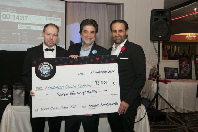 De gauche à droite: Ian Ajmo, Elio Arcobelli... (Photo fournie par Santa Cabrini)