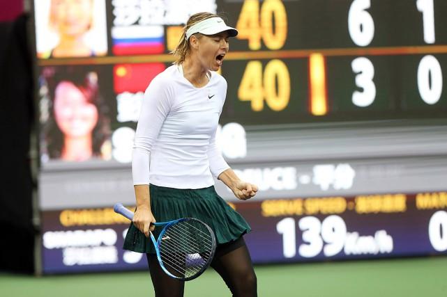 Maria Sharapova affronteraAryna Sabalenka en finale àTianjin.... (PHOTO AP/CHINATOPIX)
