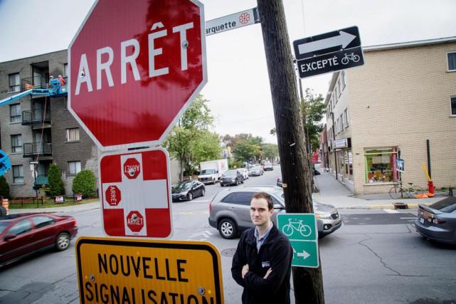 L'arrondissementde Rosemont-La Petite-Patrie installera des panneaux «Arrêt» dans88... (PHOTO ALAIN ROBERGE, LA PRESSE)