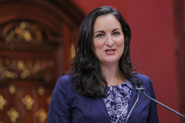 La nouvelle ministre de la Culture, Marie Montpetit.... (PHOTO PC)