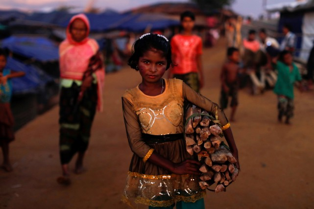 Plus de 537 000 musulmans rohingyas de Birmanie... (PHOTO ARCHIVES REUTERS)