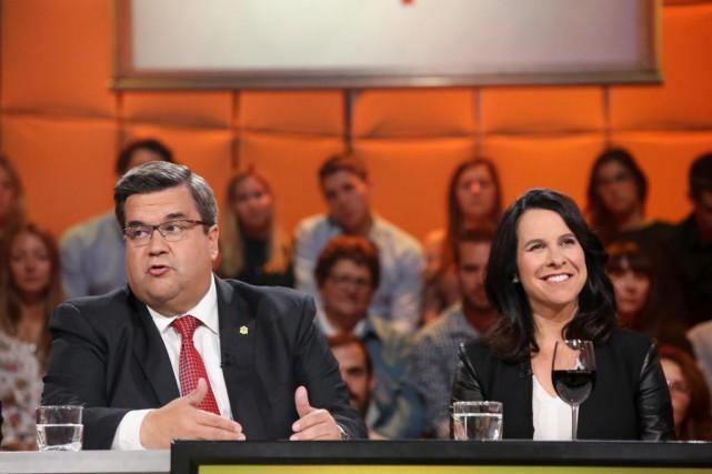Les deux principaux candidats à la mairie de... (Photo fournie par ICI Radio-Canada)